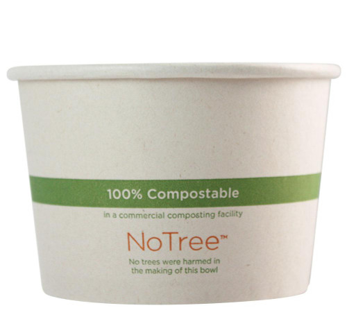 16 oz NoTree Compostable Sugarcane Soup Bowls BO-SU-16