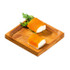 """PODA"" Bamboo Mini Square Dish - 2.4 x 2.4"""