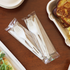 "Individually Wrapped 6"" tPLA Utensil Set Sample"