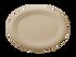 "10"" Fiber Oval Plate Sample"