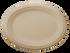 "12"" Fiber Oval Plate"
