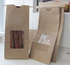 Natural Brown Kraft Bags with PLA windows TN-4PLA