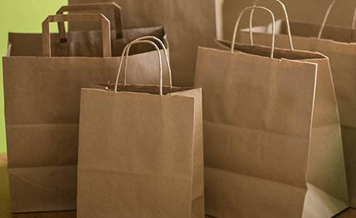 Paper Take Out Bags