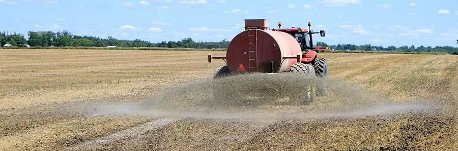Spraying chemical fertilizers