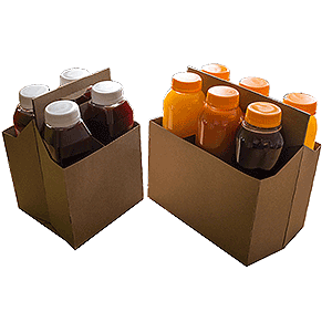 Recyclable juice bottles