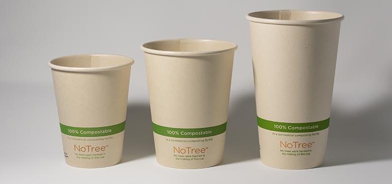 NoTree compostable sugarcane cups