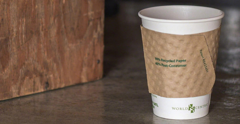 recycled paper cup sleeve