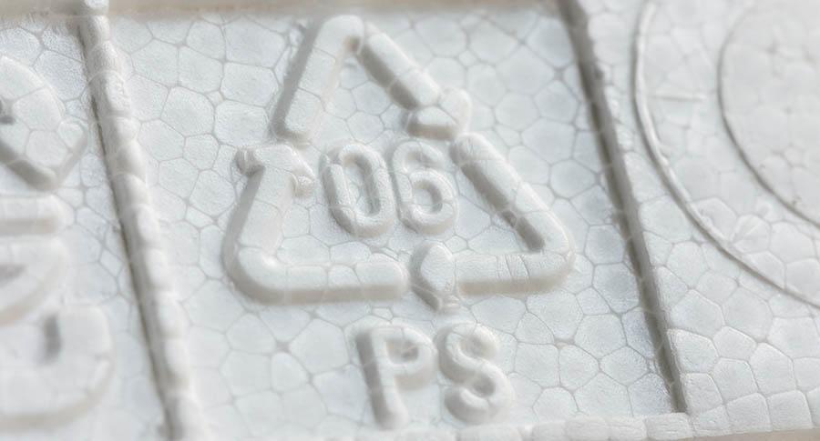 polystyrene plastic number 6