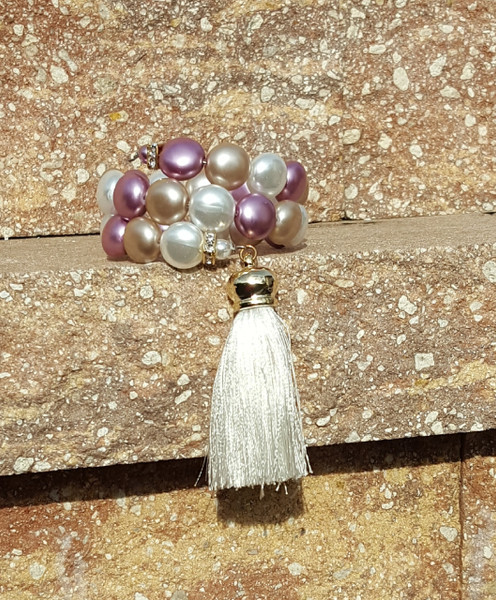 Multi Color Wrap Around Bracelet with Tassel.