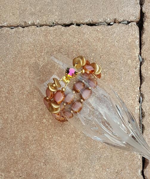 Blush Petal Double Strand Bracelet