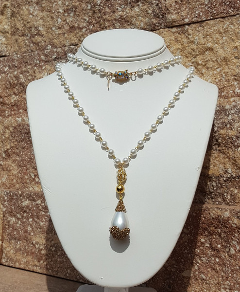 "Pearl Drop 36"" Necklace"