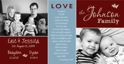 Love Family Sign