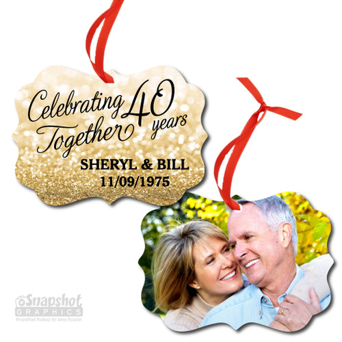 Celebrating Together Anniversary - Benelux Metal Ornament
