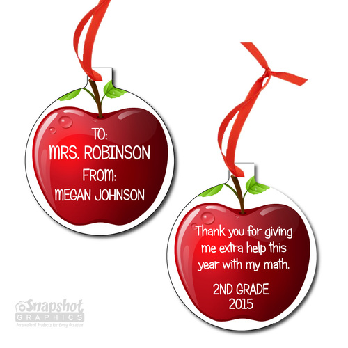 Teacher Thank You - Bulb Metal Ornament