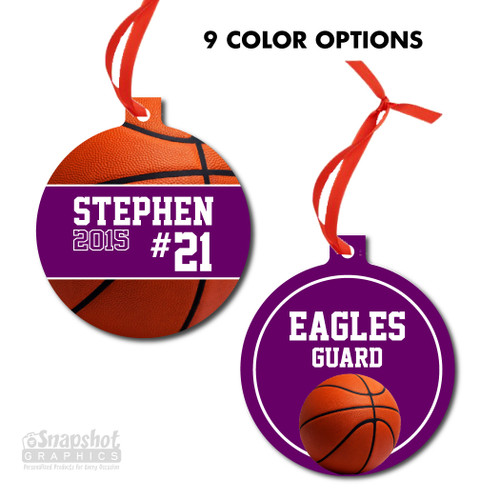 Basketball - Bulb Metal Ornament