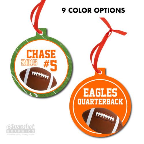 Football - Bulb Metal Ornament