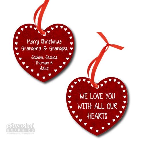 Holiday Hearts - Heart Metal Ornament