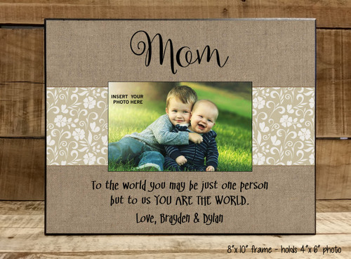 Mom You Are The World - Frame