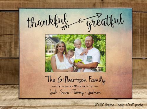 Thankful & Grateful Family - Frame