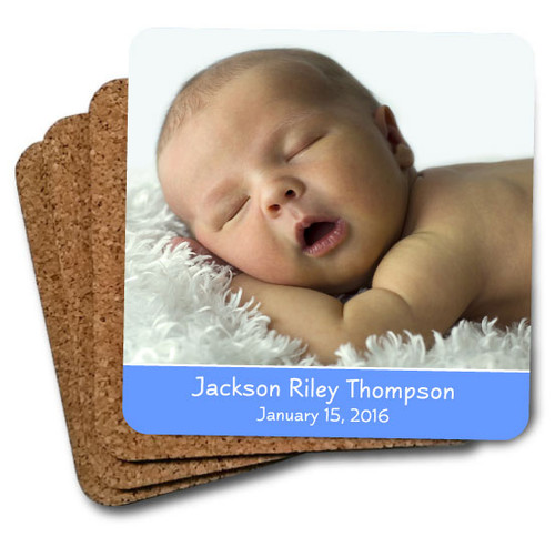 baby coaster set blue