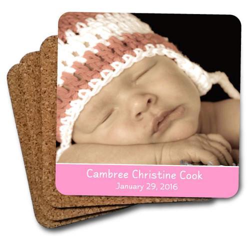 Baby coaster set pink