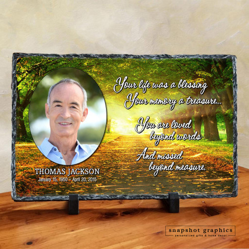 Your Life Was A Blessing - Path Memorial Stone