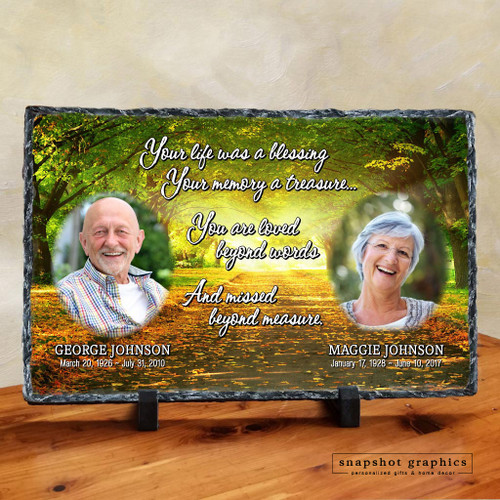 Your Life Was A Blessing - Path Two Photo Memorial Stone