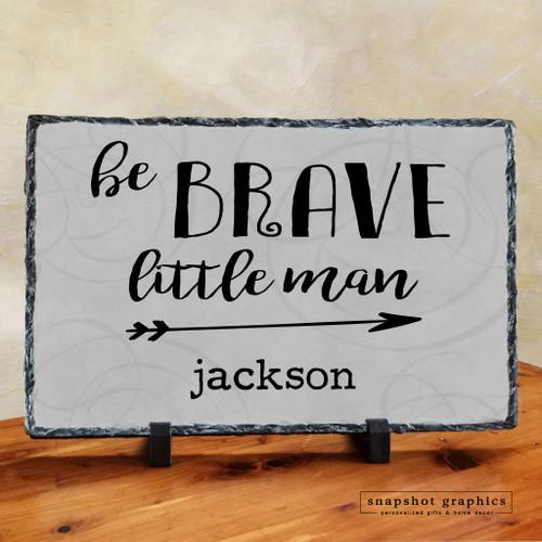 Be Brave Little Man Stone