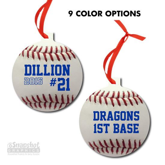 Baseball - Bulb Metal Ornament