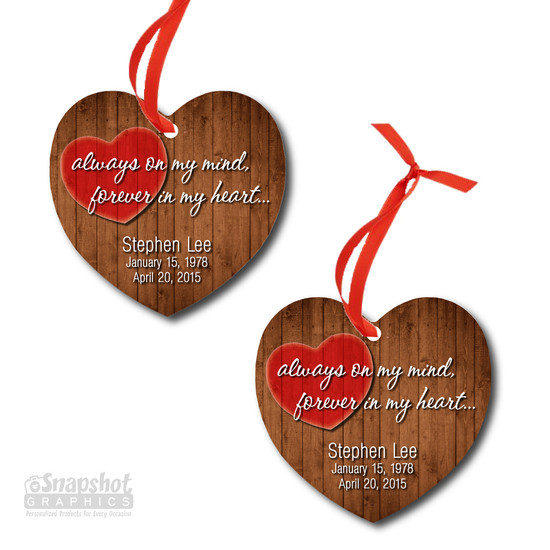 Forever In My Heart - Heart Metal Ornament