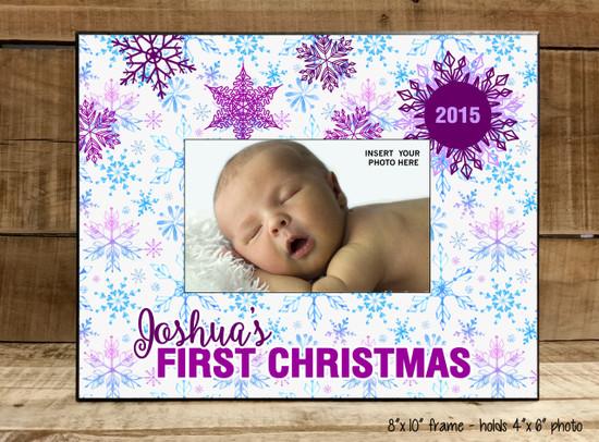 First Christmas Snowflake - Frame