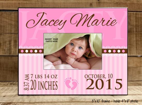 Baby Information (Pink or Blue) - Frame