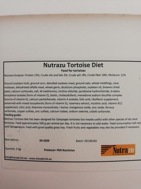 Nutrazu tortoise diet 3kg