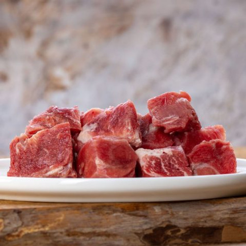 Goat muscle meat, streaky 1kg diced