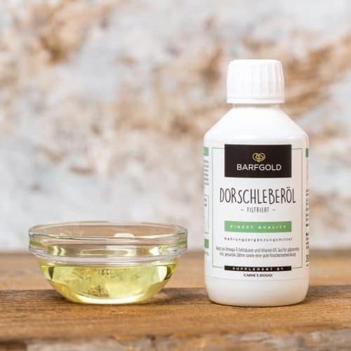 Cod liver oil, filtered 250 ml bottle