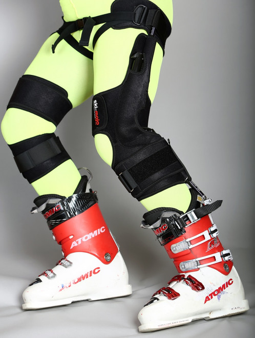 The Ski Mojo Knee Brace for Skiing is precision engineered from the highest quality materials and is fully adjustable to ensure a great fit whatever your size.  The only choice you have to make is to choose the appropriate strength of springs for your weight: The Gold ski~mojo is suitable for skiers weighing more than 75Kg; The Silver ski-mojo is suitable for skiers weighing 55 to 85Kg. For skiers weighing between 75Kg and 85Kg either model is suitable The Blue  ski-mojo is suitable for skiers weighing 45 to 65Kg  The ski~mojo comes with a handy carry bag , instructions booklet and a Hex-Key, which is the only tool you need to fit and adjust your ski~mojo. If you have any queries please refer to the FAQs. Congratulations you are almost there; after buying – just add snow to experience and enjoy the ski-mojo difference