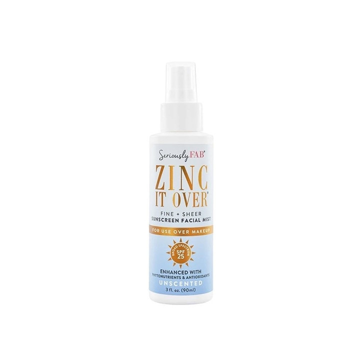 Seriously Fab Zinc it Over Unscented Sunscreen Mist