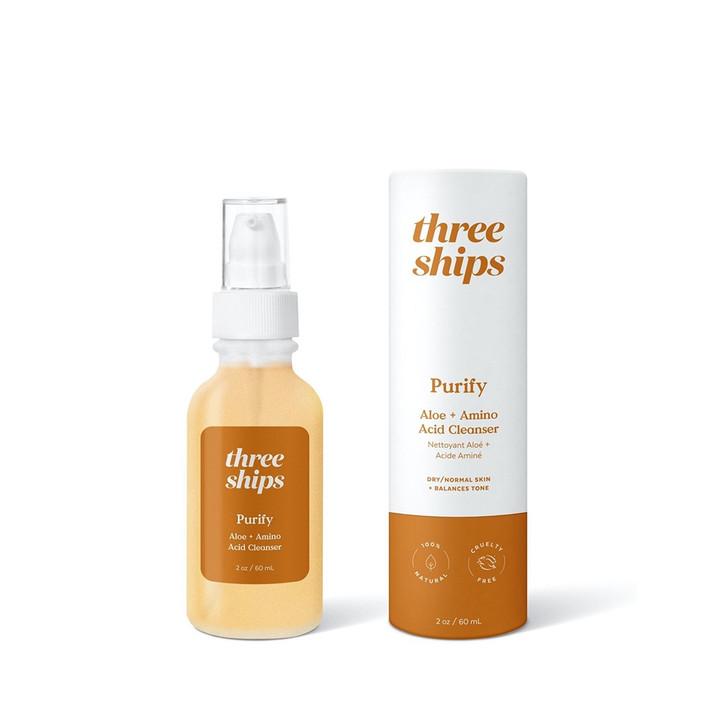 Three Ships Purify Aloe + Amino Acid Gel Cleanser