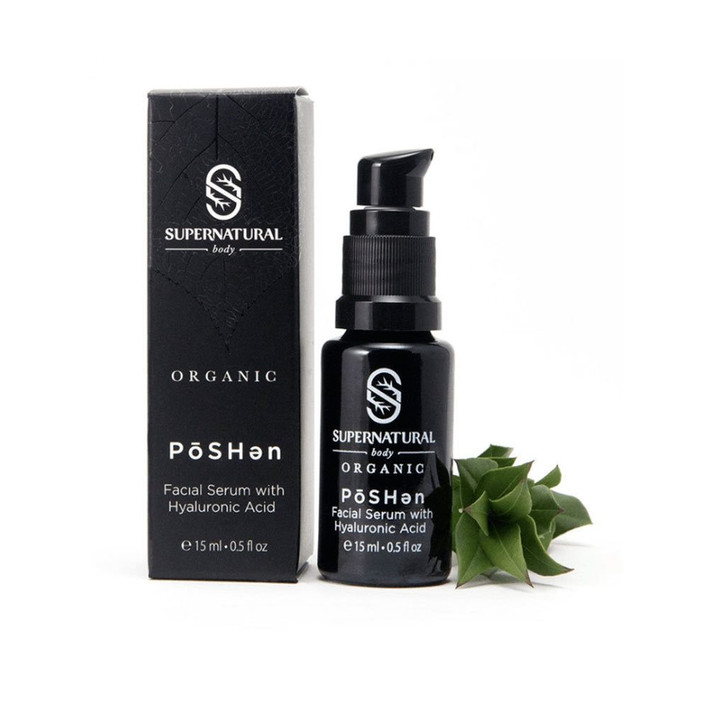 Supernatural Body | PōSHən Facial Serum with Hyaluronic Acid with Box