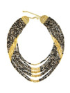 CERAMIC AND GOLD TIERED NECKLACE