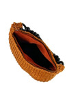 WOODEN STRAP CROCHETED BAG