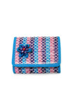 Cotton and Natural Fiber Small Trifold Wallet