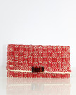 Clutch Envelope With Adornment Red