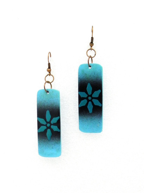 COLORED ACRYLIC FLOWER EARRINGS