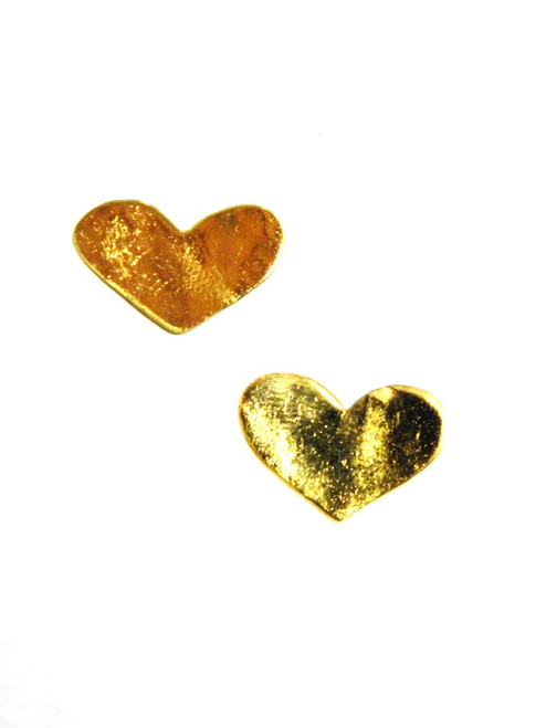 Gold Plated Heart Earrings