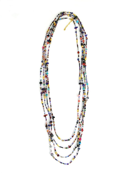 EXTRA LONG LAYERING BEADED NECKLACE