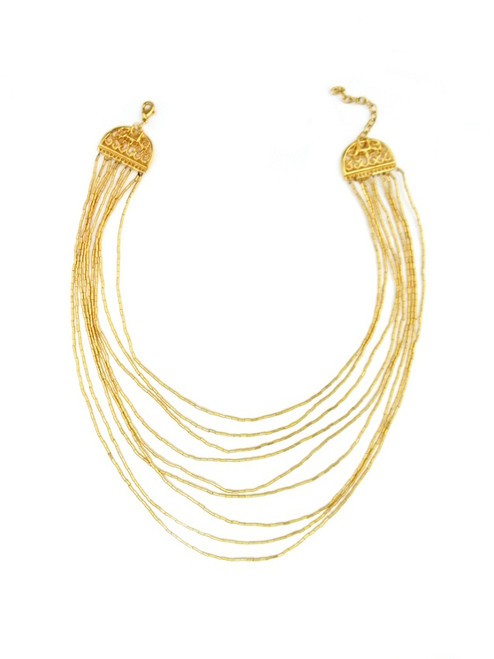 GOLD PLATED TIERED NECKLACE