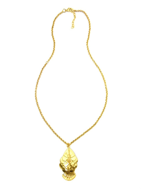 GOLD FISH PLUNGE NECKLACE