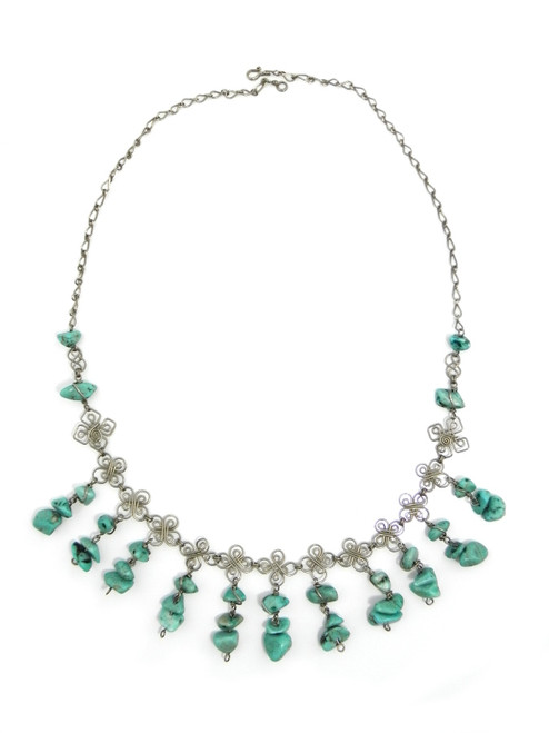 TURQUOISE  ALPACA SILVER NECKLACE