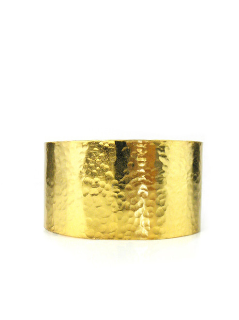 HAMMERED GOLD PLATED CUFF